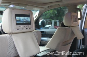 Car Headrest DVD Players Install Toyota Tundra Cloth Seats
