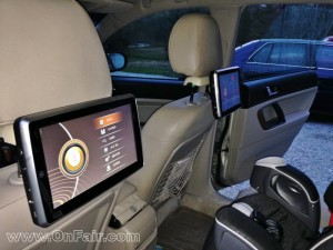 portable dvd player for car headrest