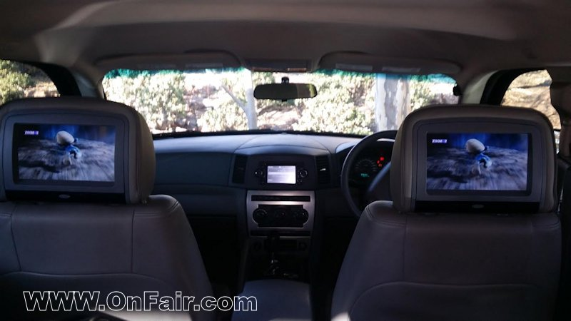 Autotain Headrest Dvd Player Monitor Install In Jeep Grand