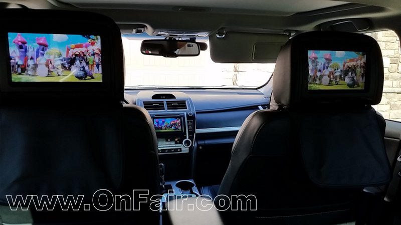 Autotain Magic Car Headrest DVD Players Install Customer Review For 2013  Toyota Camry SE